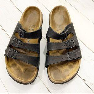 Birkenstock Betula Black Slide On Sandals SZ 39